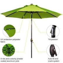 9 ft. Market Outdoor Table Umbrella with Auto Tilt and Crank Patio Umbre... - $119.71