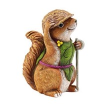 Department 56 Garden Guardians Chester the Chipmunk w Walnut Helmet Twig Spear