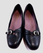 Clarks Artisan Leather Size 6.5 B Black Shoes Slip-On Buckles - $29.99