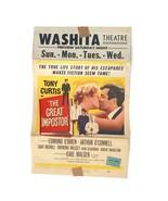 "Vintage 1961 The Great Impostor Tony Curtis Movie Poster Washita 22"" Ori... - $21.36"