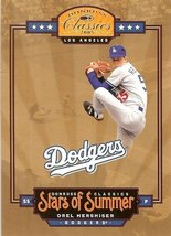 2005 donruss los angles dodgers orel hershiser serial # 732/1000 - $2.50