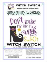 Witch Switch halloween cross stitch chart Cross Stitch Wonders - $5.00