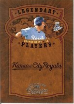 2005 donruss kansas city royals george brett serial # 179/800 - $2.50