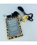 Bath & Body Works Wearable ID/Card Lanyard Holder Pocketbacs Leopard Key... - $26.68