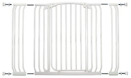 Dreambaby Chelsea Extra Tall and Wide Auto Close Security Gate in White with Ext