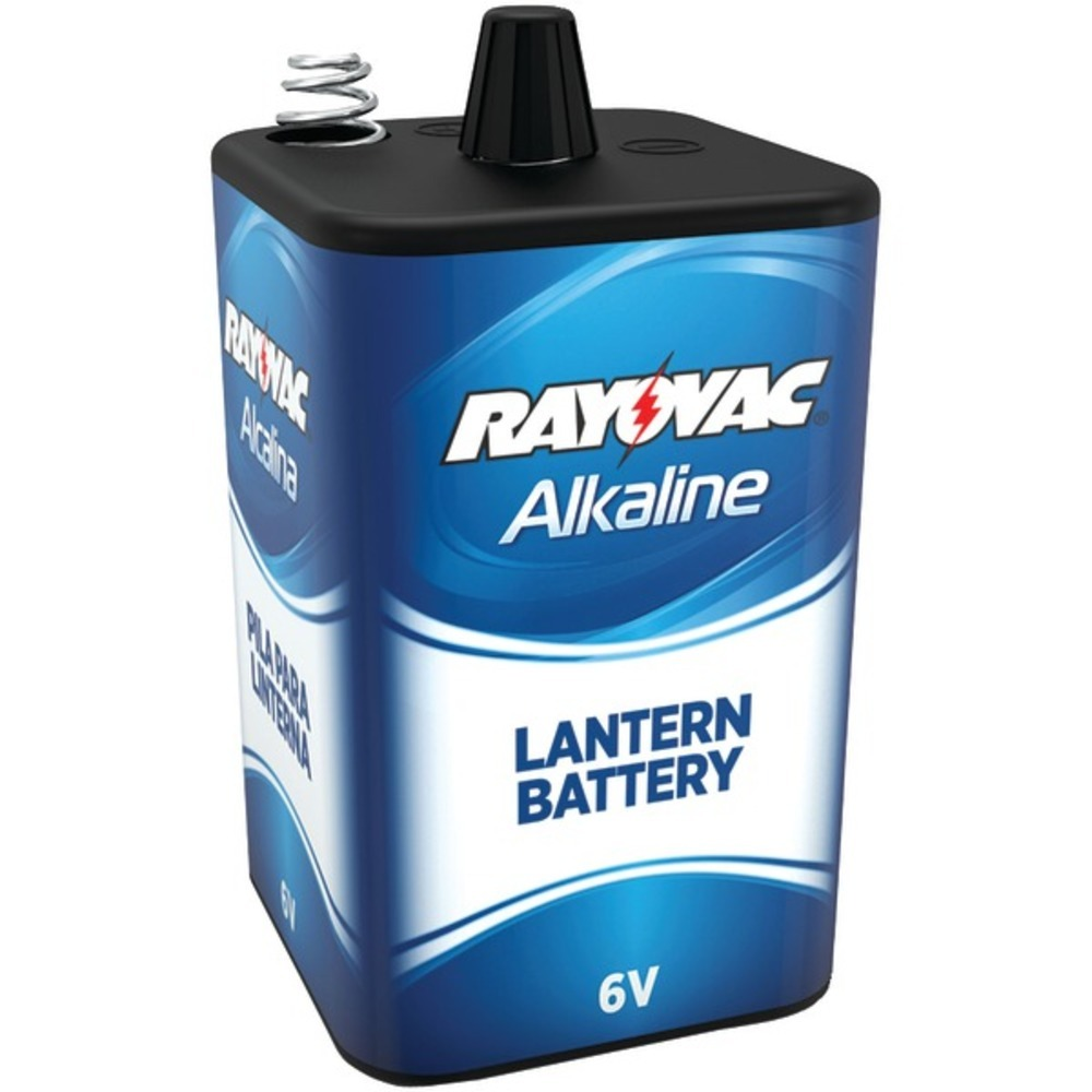 RAYOVAC 806 6-Volt, 4-Alkaline, D-Cell-Equivalent Lantern Battery with Spring Te