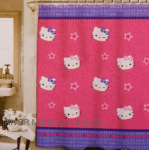 "Hello Kitty Twins & Wink Star Gazers Fun Shower Curtain, Peva 72"" x 70""-... - $15.98"