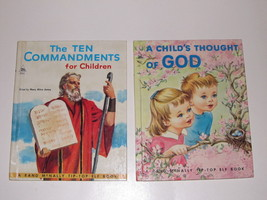 Pair of Vintage Religious Books for Children - Rand McNally Tip-Top Elf ... - $5.99