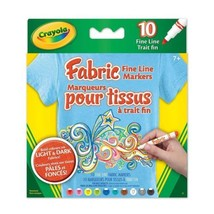 Crayola Fabric Fine Line Markers, School and Craft Supplies, Drawing Gif... - $14.08