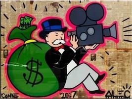 Alec Monopoly Bansky oil Painting on Canvas graffiti art wall decor Mone... - $29.69
