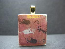 Mice - Scrabble Tile Pendant - $5.00