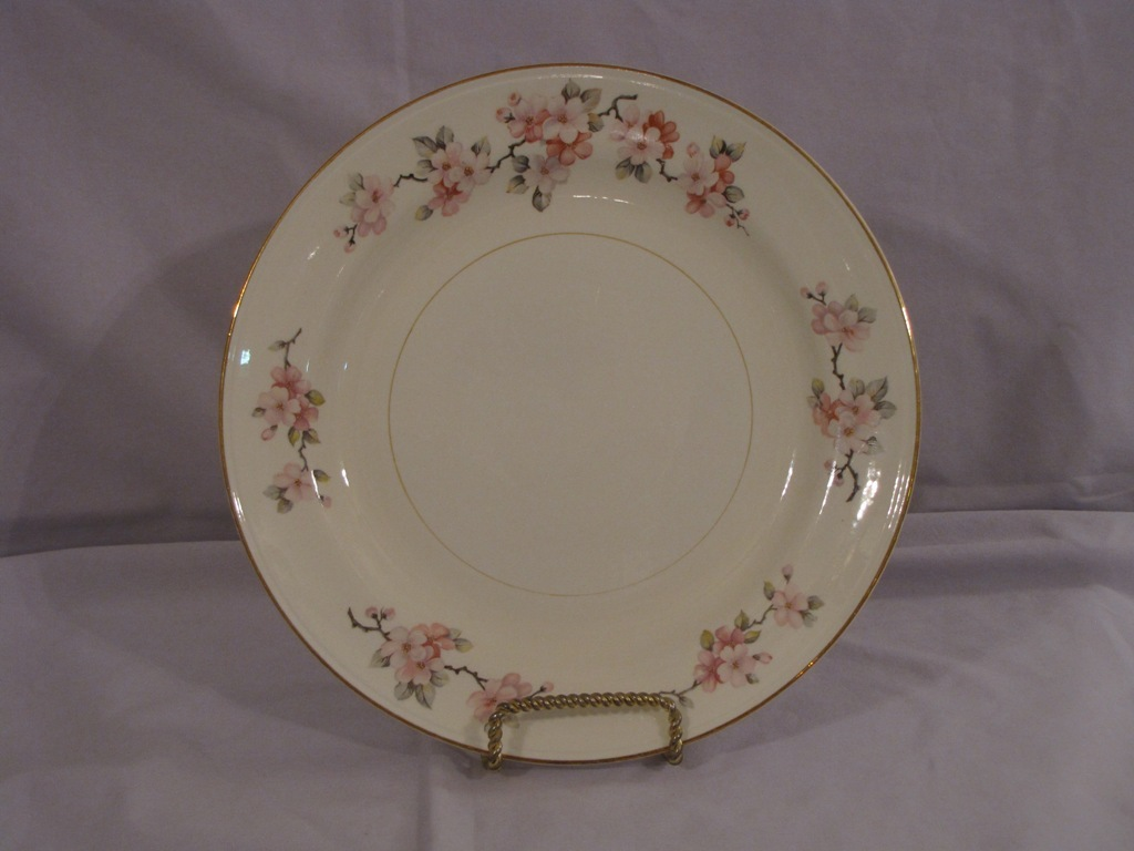 Primary image for Homer Laughlin Eggshell Nautilus Apple Blossom Dinner Plate