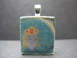 Bird - Scrabble Tile Pendant - $5.00