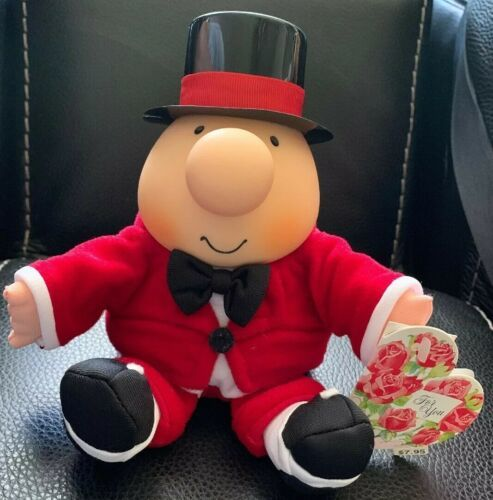 "Primary image for Vintage Ziggy NWT Plush Bean Bag Top Hat & Red Tux 6"" Tall Seated 1995 Gift"