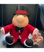 """Vintage Ziggy NWT Plush Bean Bag Top Hat & Red Tux 6"""" Tall Seated 1995 Gift - $9.89"""