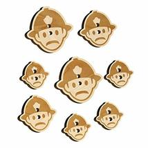 Occupation Firefighter Fire Man Icon Wood Buttons for Sewing Knitting Cr... - $9.99