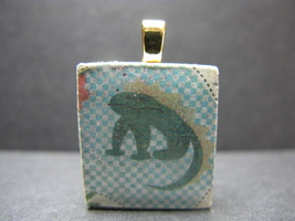 Lizard - Scrabble Tile Pendant - $5.00