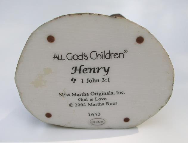 All God's Children - Henry - Item #1653, New in Box w/COA