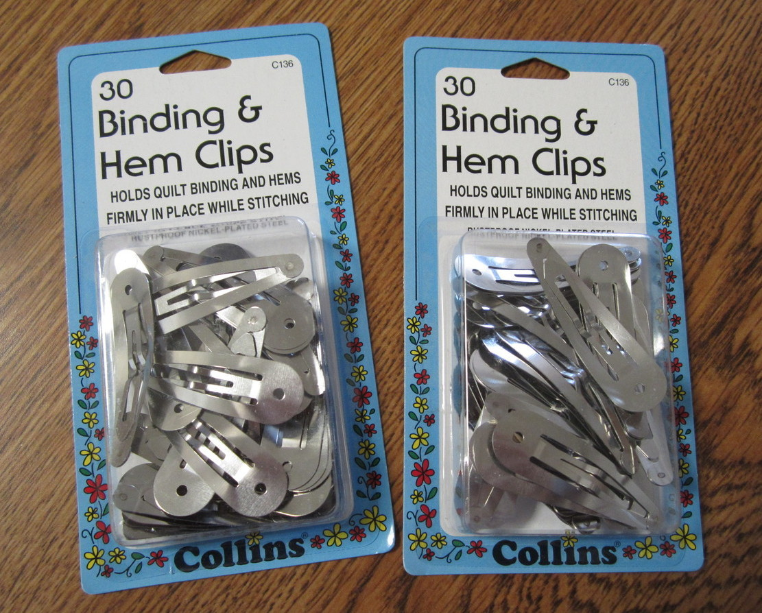 Binding & Hem Clips 2 packs