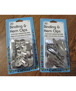 Binding & Hem Clips 2 packs - $9.95
