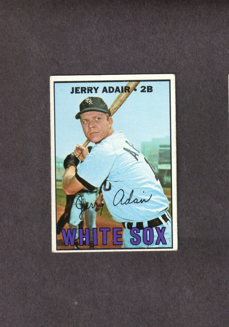 1967 Topps # 484 Jerry Adair Chicago White Sox