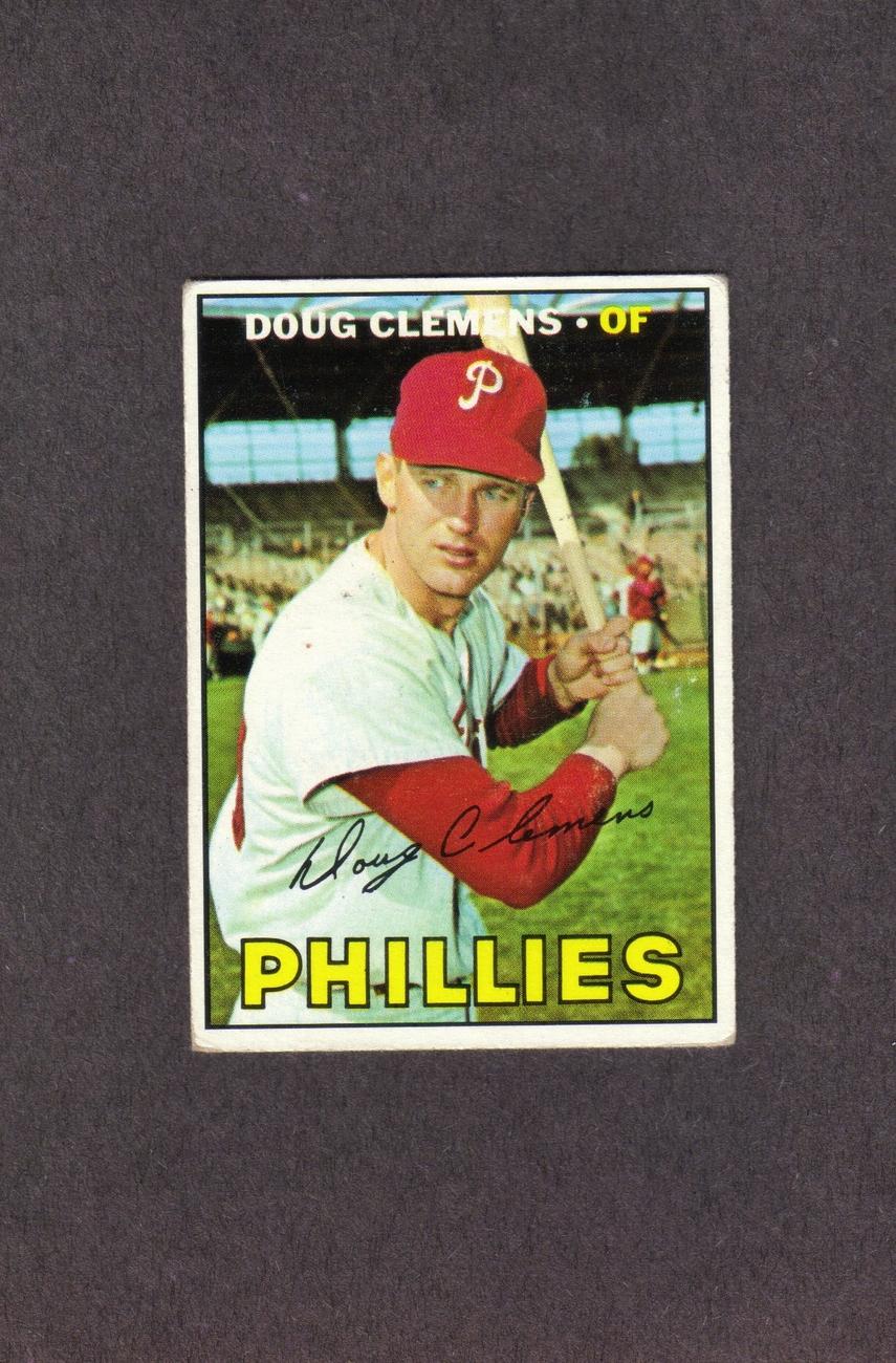 1967 Topps # 489 Doug Clemens Philadelphia Phillies