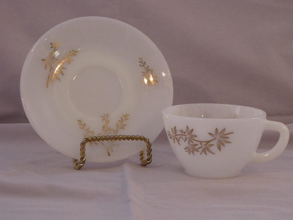 Federal Glass Golden Glory Cup and Saucer
