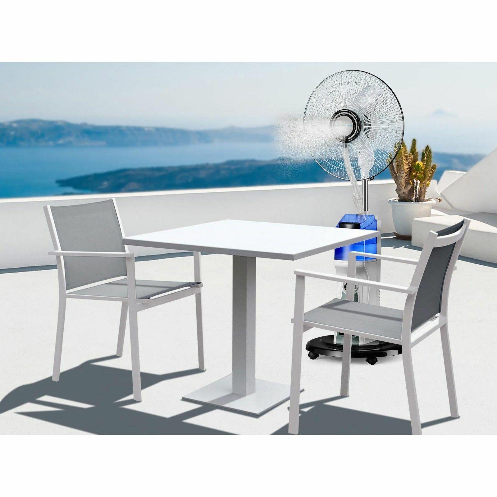 Tpro Rechargeable Misting Portable Fan w/ Powerbank / USB White OFMIST2