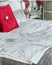 Silver and White Sequin Throw - ₹7,871.67 INR