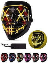 Sago Brothers Scary Halloween Mask, LED Light up Mask Cosplay, Glowing (... - £19.85 GBP
