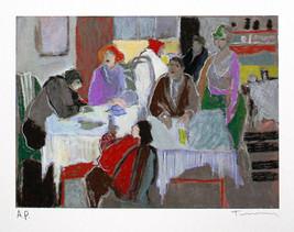 "Itzchak Tarkay ""Tavern At Dusk"" - S/N Serigraph... - $200.00"