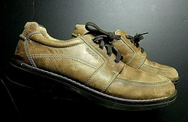 Men's ECCO Brown Burnished Leather Casual Oxford Sz. 45/12 MINTY! - $37.62