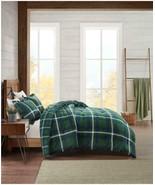 $160.00 Premier Comfort Flannel Plaid Full/ Queen Comforter Set, Green - $62.37