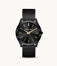 Michael Kors MK8607 Men's Slim Runway Black Ip Watch - $123.25