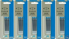 15 x Parker Quink BLUE Ink Cartridge for Ink / Fountain Pen Made in France New - $13.45