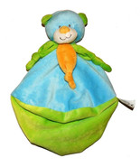 Kellytoy Plush Baby Lovey Blanket Rattle Blue Green Teddy Bear Sensory Toy - $32.55