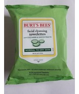 Burt's Bees Facial Cleansing Towelettes Cucumber & Sage Normal-Dry 30 Co... - $12.16