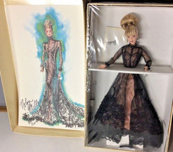 Limited Edition Nolan Miller Sheer Illusion Barbie & Signed Reproduction... - $96.99