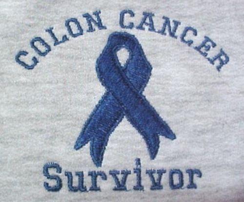 Colon Cancer Sweatshirt Blue Ribbon SURVIVOR 5X Gray Awareness Unisex New