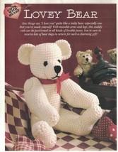 "Lovey Bear Crochet Animal Stuffed Toy Pattern Movable Arms & Legs 14"" tall - $3.46"