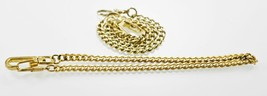 2 Unisex Stainless Steel Gold Pocket Watch Replacement Chains Fobs 14 1/... - $8.59