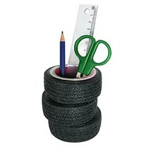 Tire Stack Pen Pencil Holder - Solid Resin Desktop Accessory for Office,... - $475,90 MXN