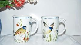 OISEAU by Fitz & Floyd Coffee Tea Mugs, two  different bird scenes, Vintage 70's - $14.85