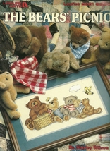 Bears Picnic Cross Stitch Pattern Leaflet 2221 Leisure Arts  - $9.98