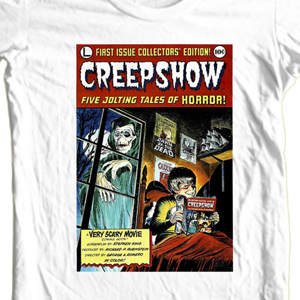 Creepshow tshirt comic book poster graphic white tee retro horror film tshirt