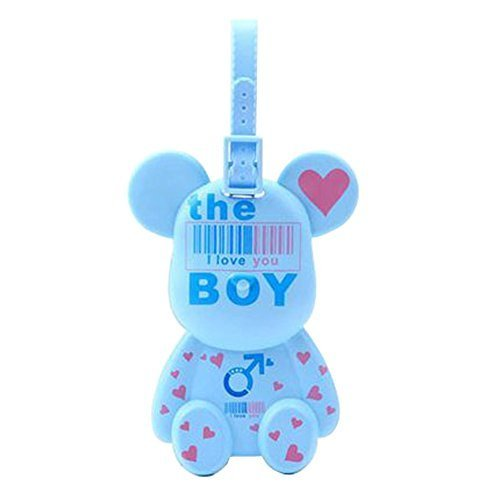 Fashional Luggage Tag Bag Tags Silicone Name Tag Travel Tag [Blue BOY]