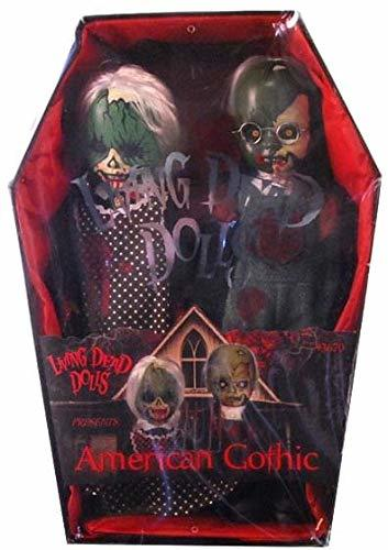 Mezco Toyz Living Dead Dolls 2Pack American Gothic Bloody Version