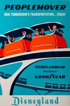 Disneyland PEOPLE MOVER POSTER 24 X 36 Inches Looks beautiful Nostalgia - $19.94
