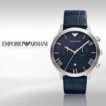 Emporio Armani Classic Croc Leather Strap Chronograph Watch AR01652 BNWT/GB $295 - $159.11