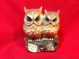 Vintage Ceramic 'Be Wise Save' OWL BANK - $1.99